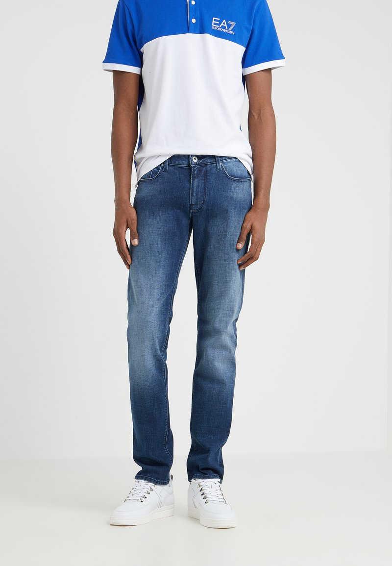 Emporio Armani - PANT - Jeans Tapered Fit - blue denim