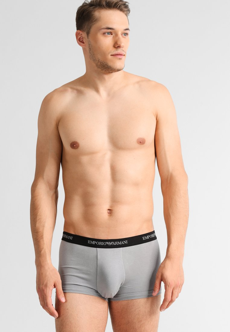 Emporio Armani - STRETCH TRUNK 3 PACK - Shorty - grey/black/white