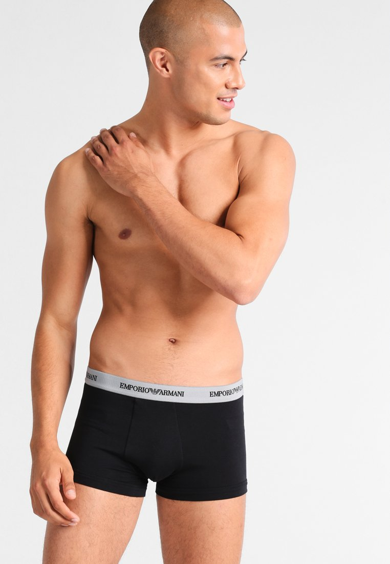 Emporio Armani - STRETCH TRUNK 3 PACK - Shorty - nero