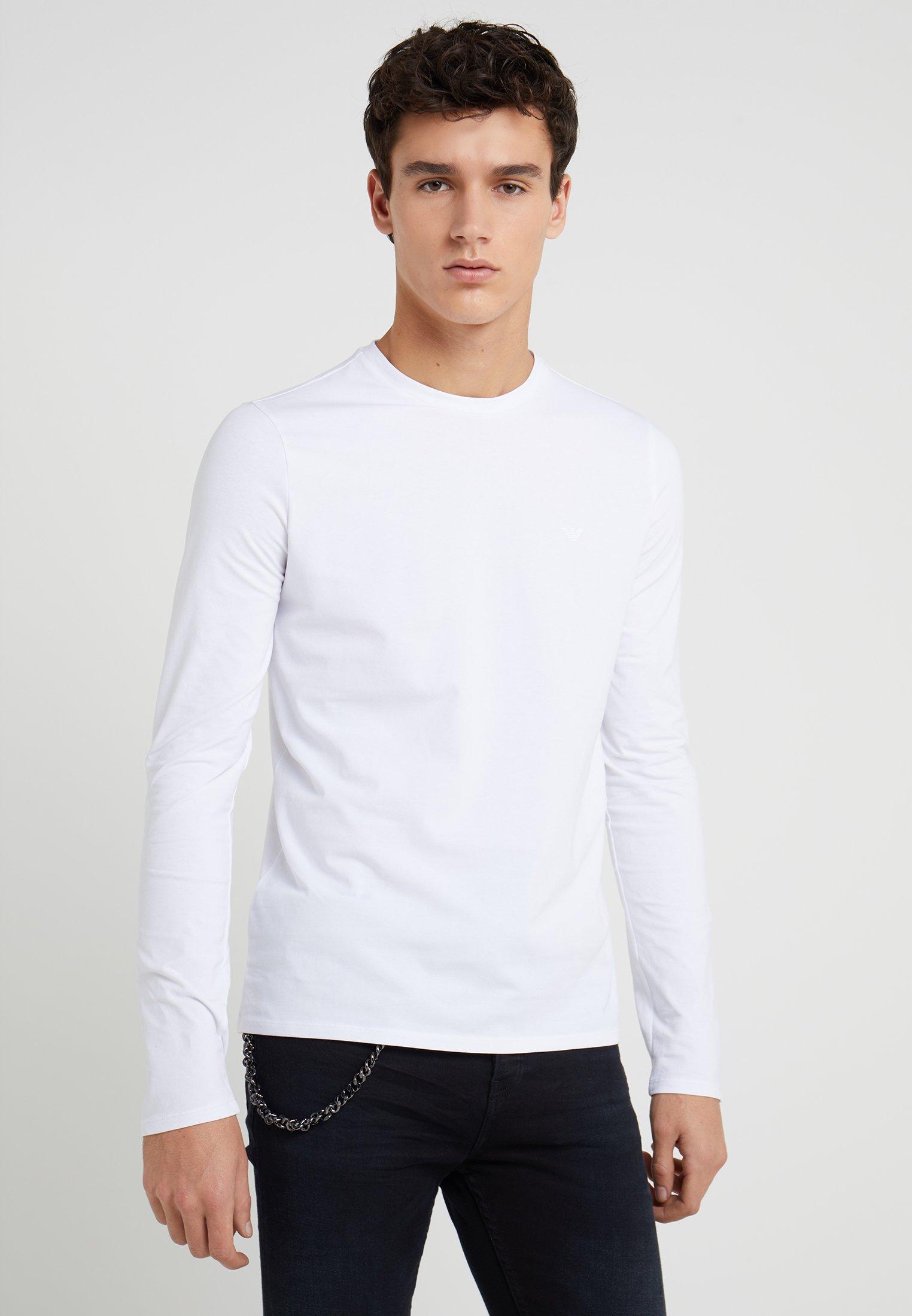 Emporio shirt T À Manches LonguesWhite Armani USzVMp