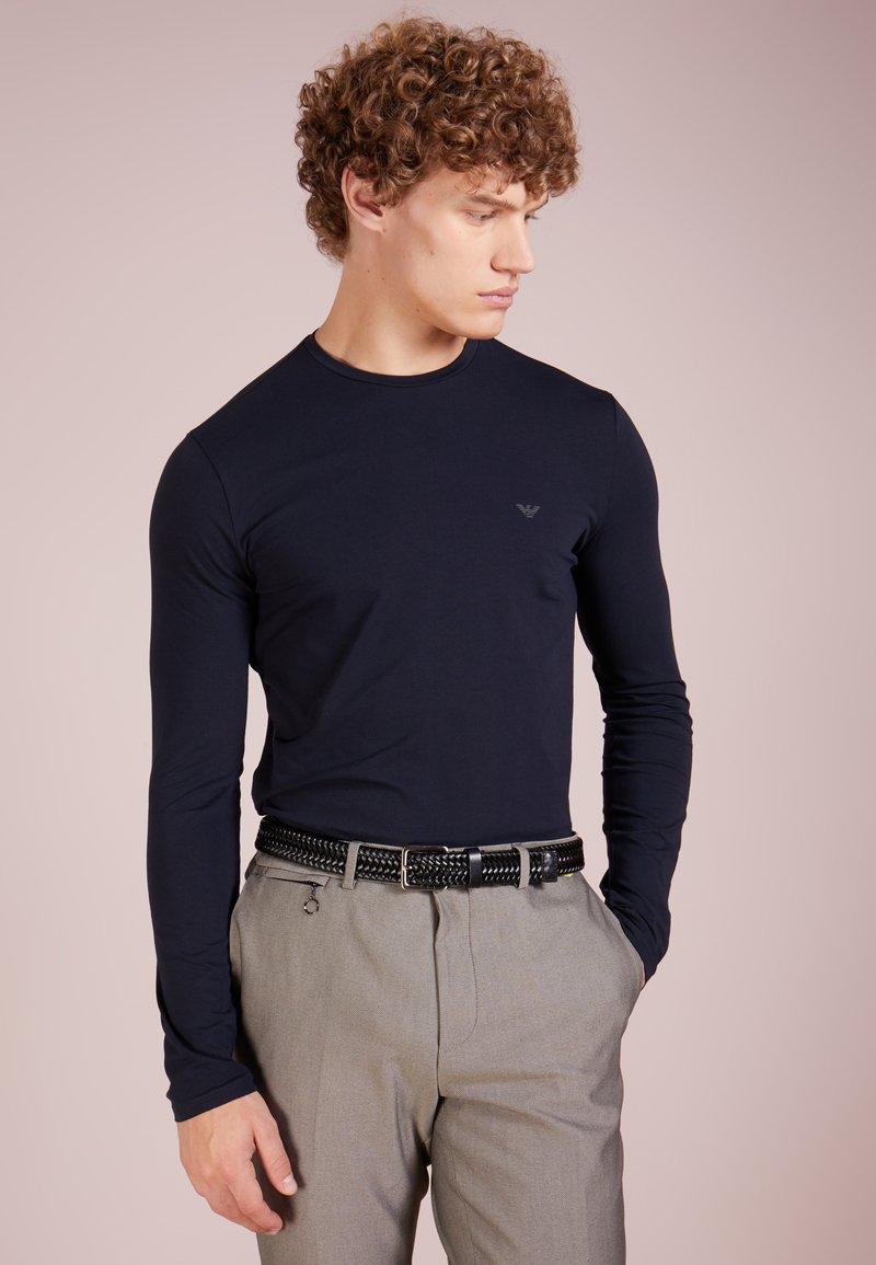 Emporio Armani - T-shirt à manches longues - blu scuro