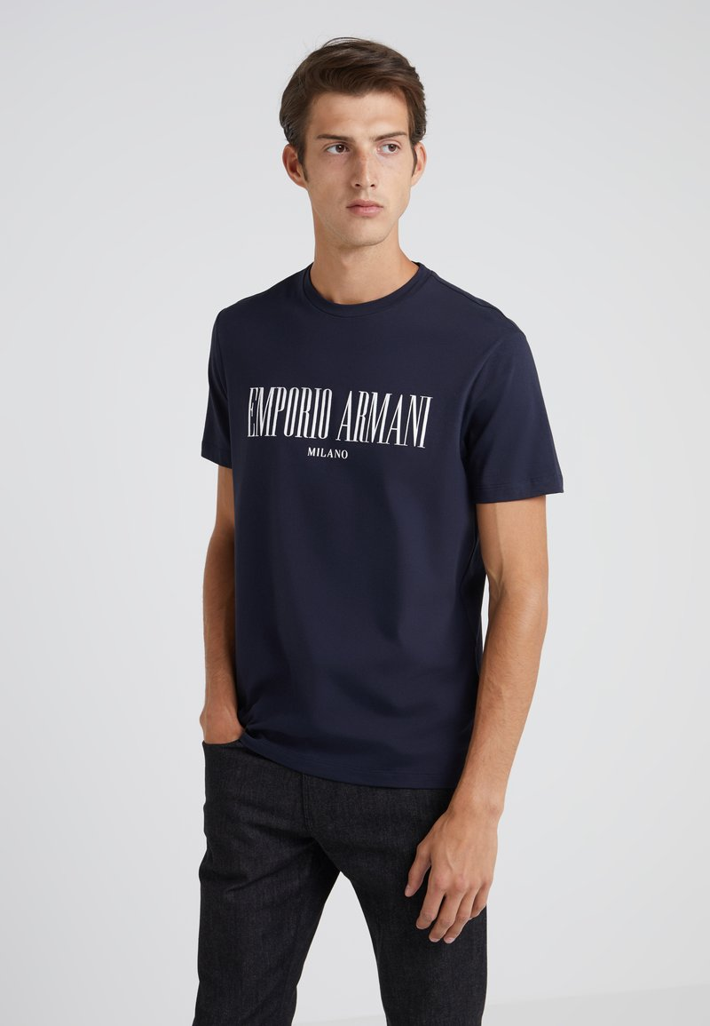 Emporio Armani - Camiseta estampada - navy