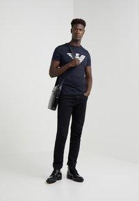 Emporio Armani - T-shirt print - dark blue - 1
