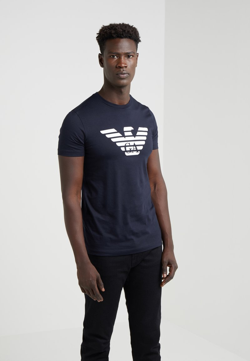 Emporio Armani - T-shirt med print - dark blue