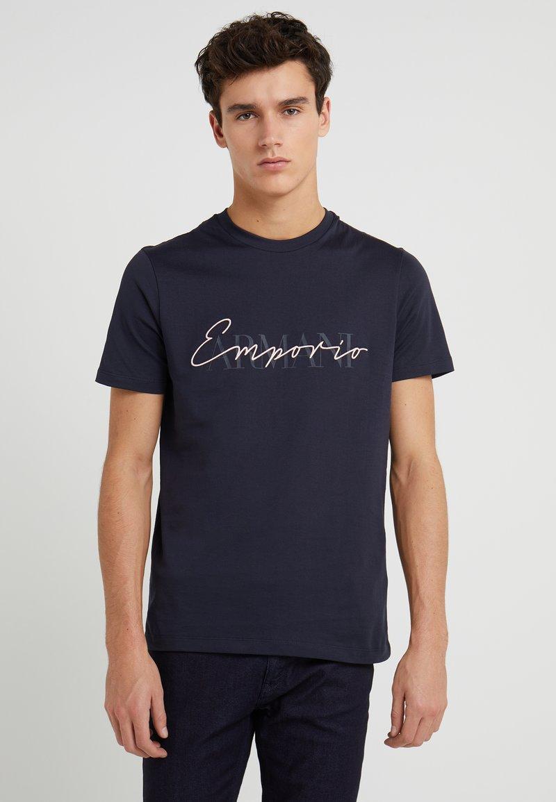 Emporio Armani - Print T-shirt - dark blue