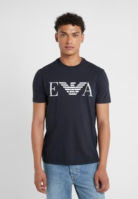 Emporio Armani - Camiseta estampada - dark blue - 0