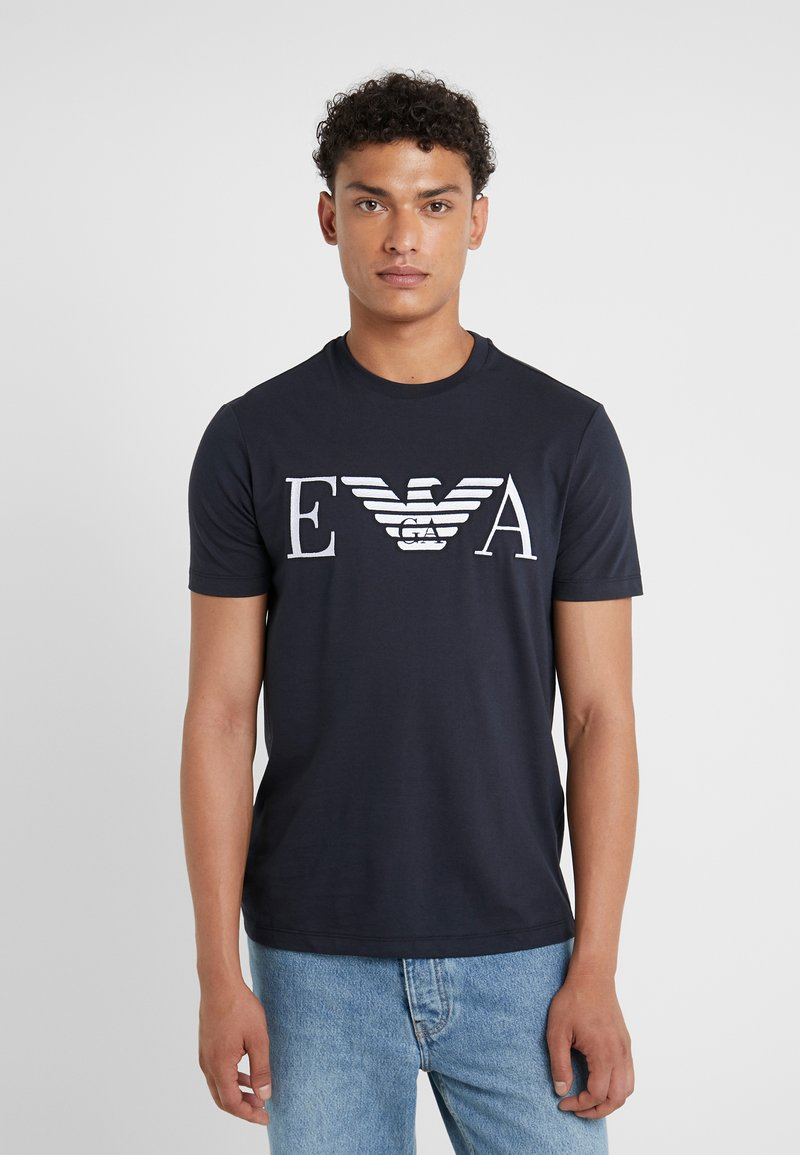 Emporio Armani - Camiseta estampada - dark blue
