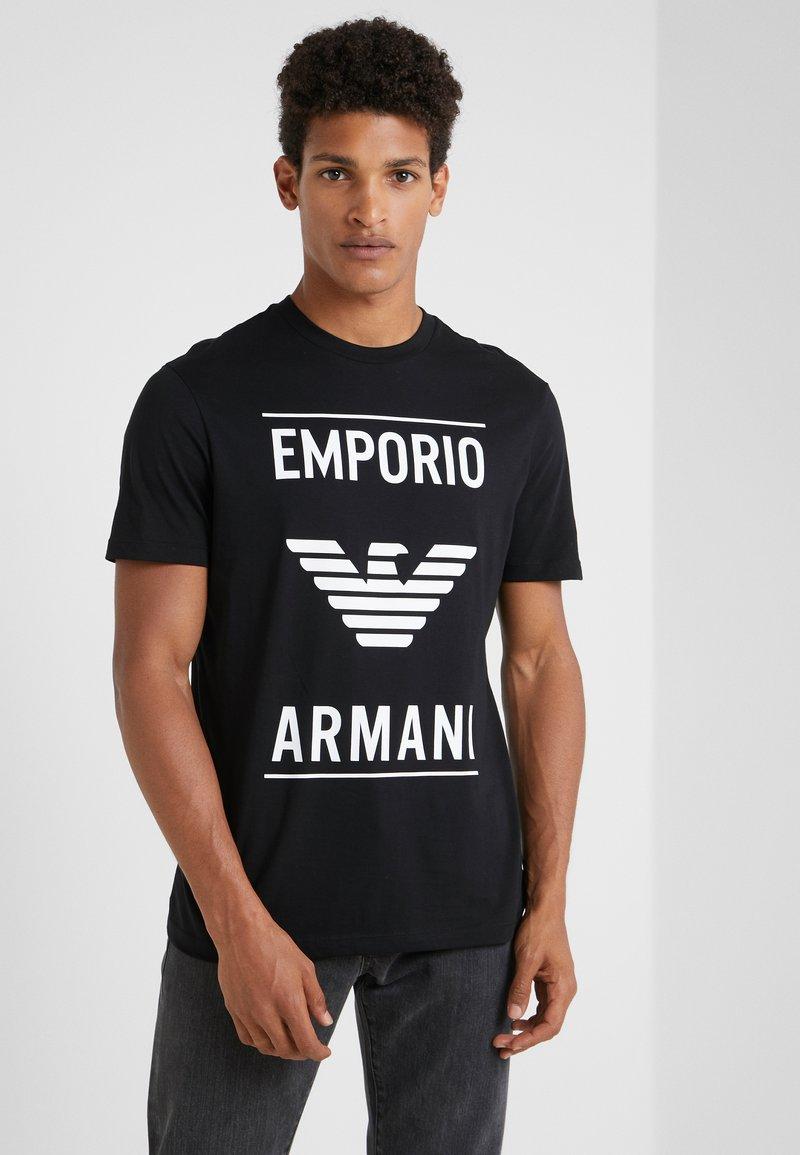 Emporio Armani - Triko spotiskem - nero