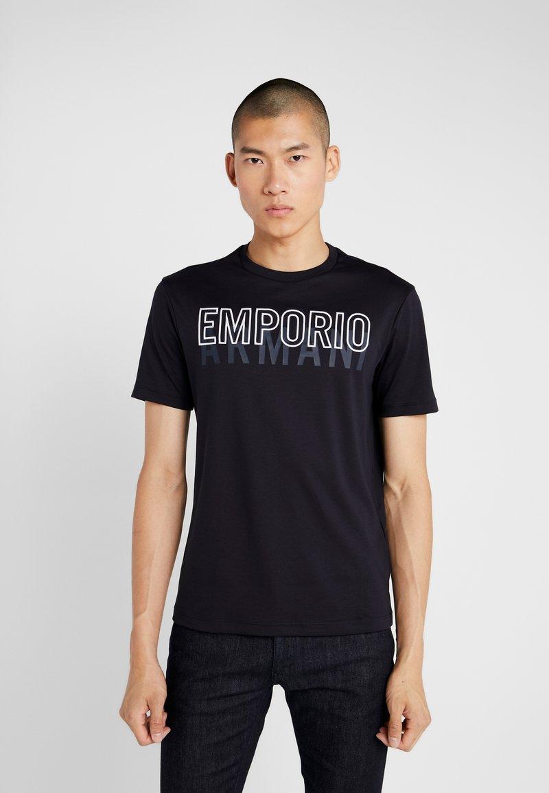 Emporio Armani - Triko spotiskem - blu navy