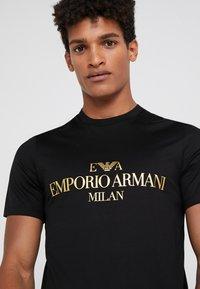 Emporio Armani - T-shirt print - black - 3