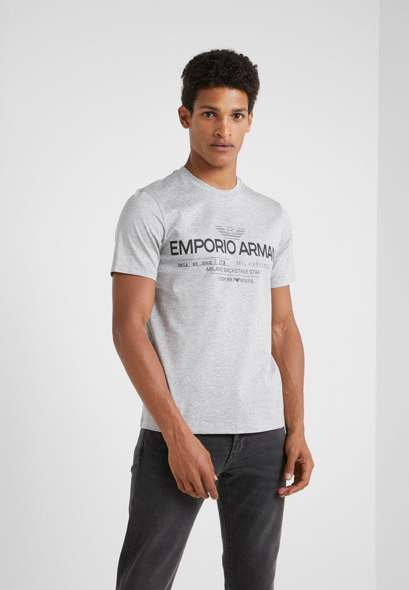 Emporio Armani - Print T-shirt - grigio melange