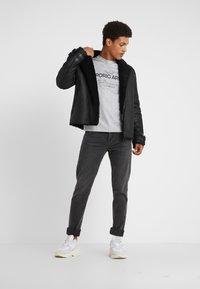 Emporio Armani - Print T-shirt - grigio melange - 1