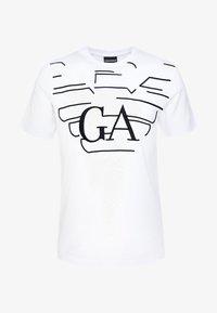 Emporio Armani - T-shirt med print - bianco - 4