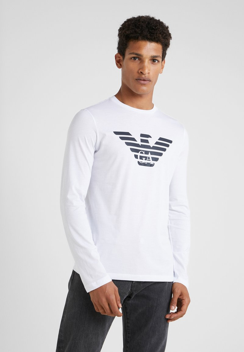 Emporio Armani - Long sleeved top - bianco ottico