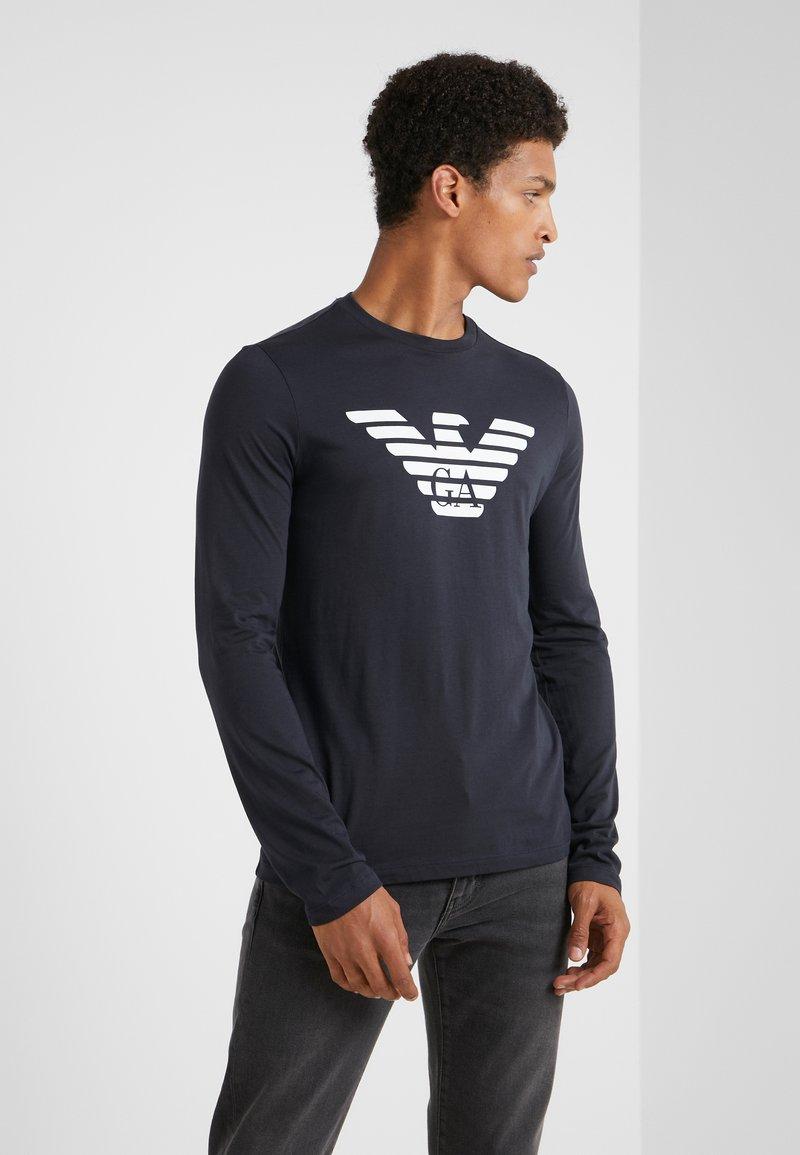 Emporio Armani - Langærmede T-shirts - blu scuro