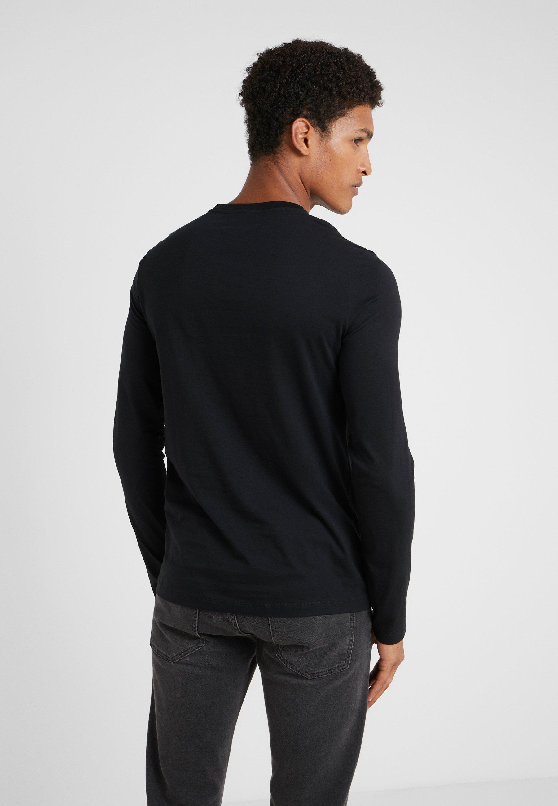 Armani Manches shirt T Emporio LonguesNero À ZiulwPXkTO