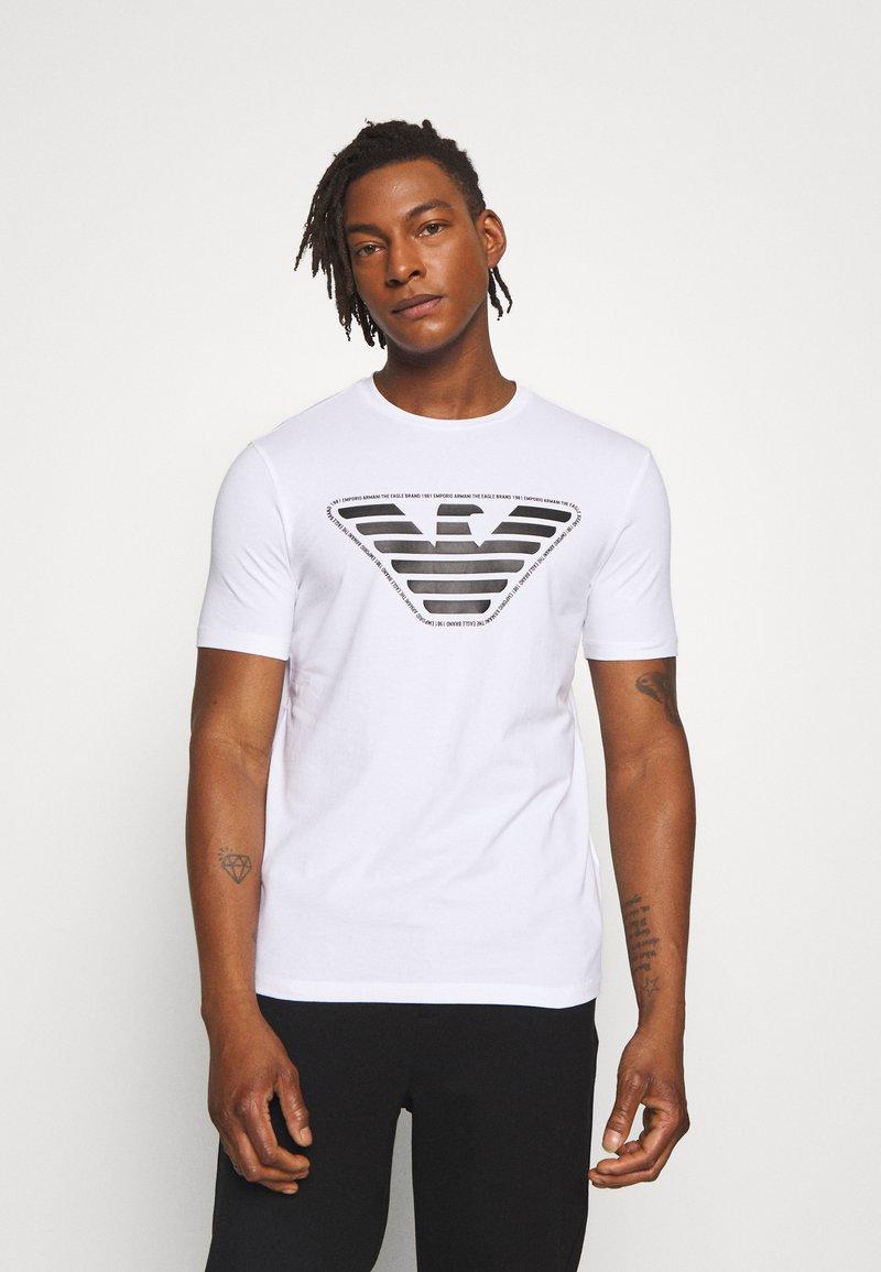 Emporio Armani - T-shirt imprimé - bianco ottico