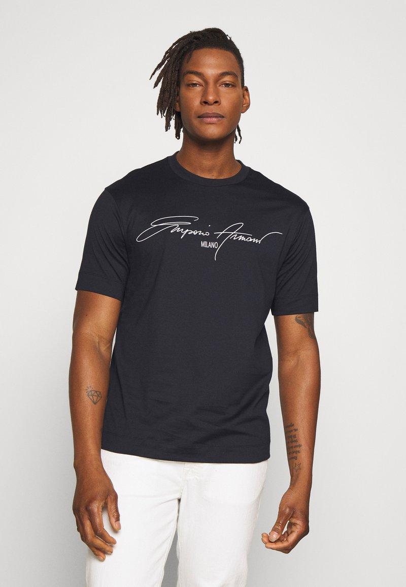 Emporio Armani - T-shirt print - navy