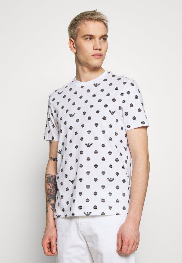T-shirt imprimé - pois nero