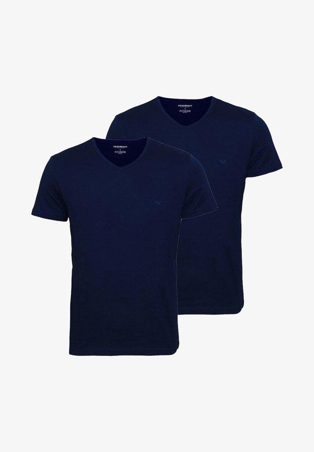 2ER PACK  - Print T-shirt - navy