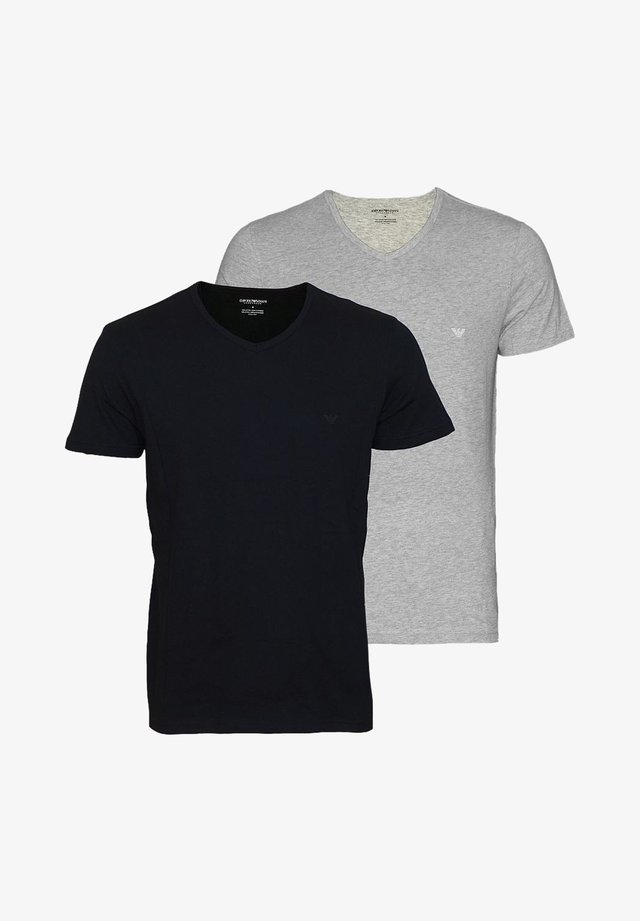 2ER PACK  - Print T-shirt - black grey