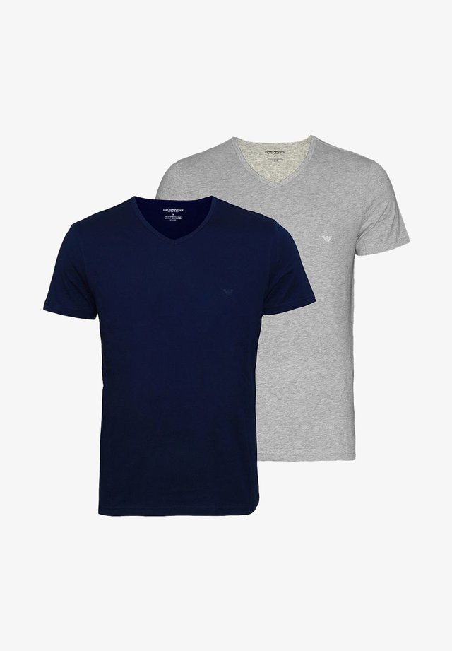 2ER PACK  - Print T-shirt - navy grey