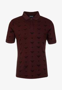 Emporio Armani - Poloshirt - rosso vinaccia - 3