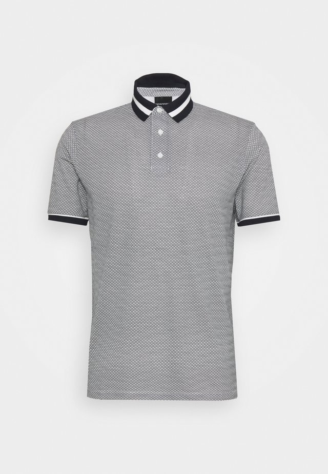 Polo shirt - black/white