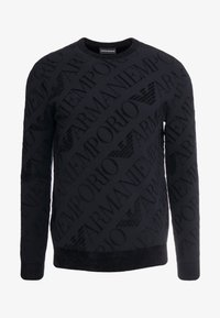Emporio Armani - ALLOVER PRINT - Stickad tröja - nero - 4