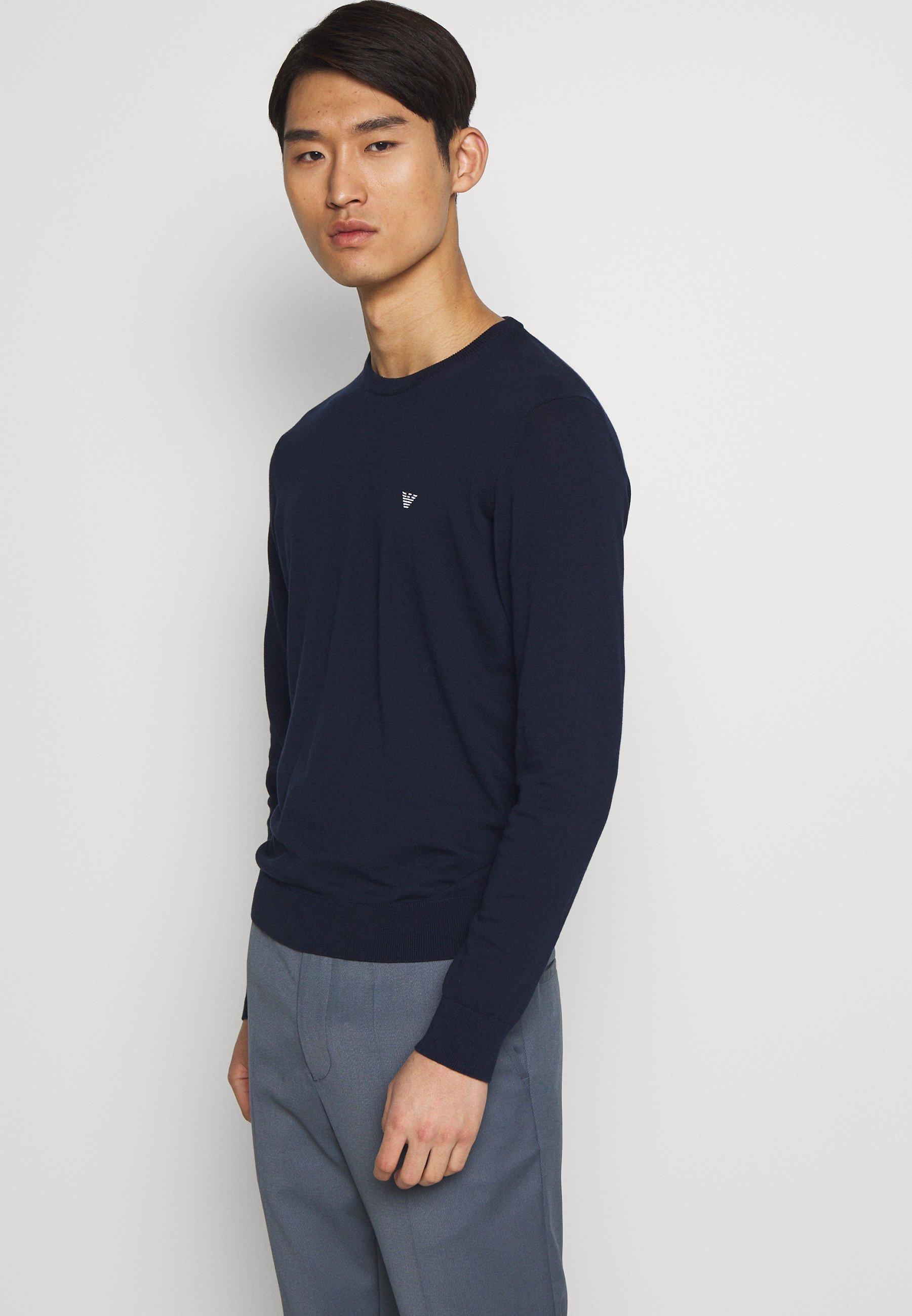 Emporio Armani MAGLIERIA - Sweter - blu
