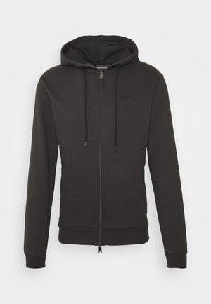 ZIPPED HOODIE  - Zip-up hoodie - dark grey