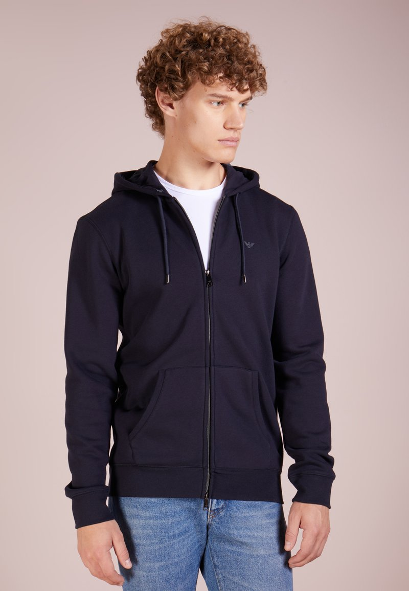 Emporio Armani - FELPA - Zip-up hoodie - blu