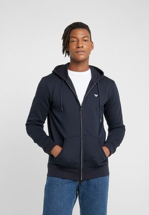 FELPA - veste en sweat zippée - blu scuro