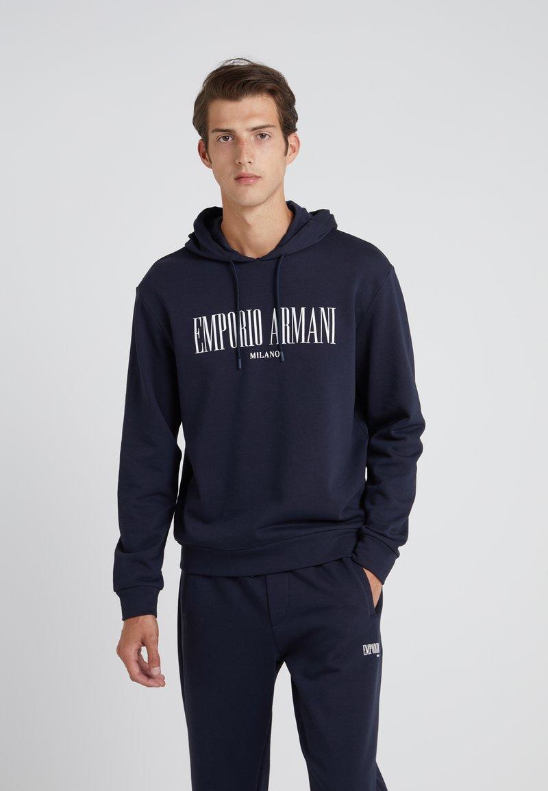 Emporio Armani - HOODIE - Hoodie - navy