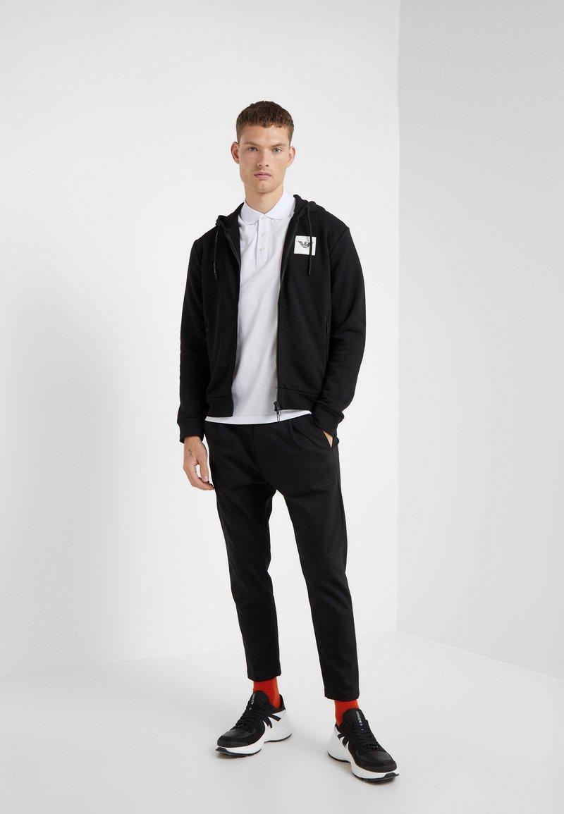 Emporio Armani - FELPA - veste en sweat zippée - nero