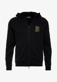 Emporio Armani - veste en sweat zippée - nero - 3