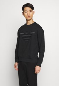 Emporio Armani - FELPA - Sweatshirt - black - 0