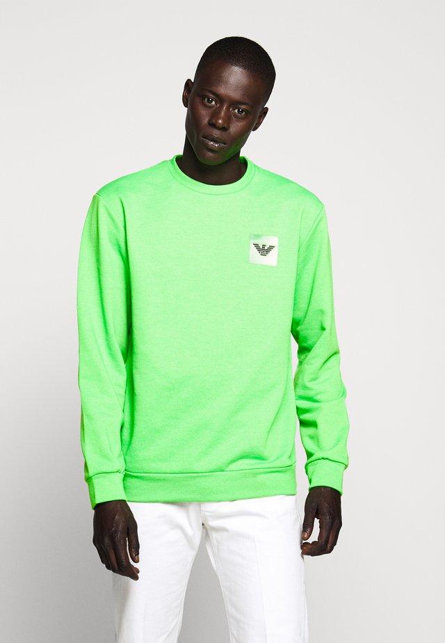 FELPA - Sweatshirt - verde fluo