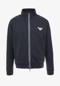 Emporio Armani - Zip-up hoodie - navy blue - 4