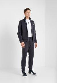 Emporio Armani - Zip-up hoodie - navy blue - 1