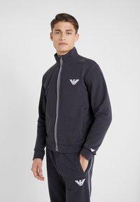 Emporio Armani - Zip-up hoodie - navy blue - 0