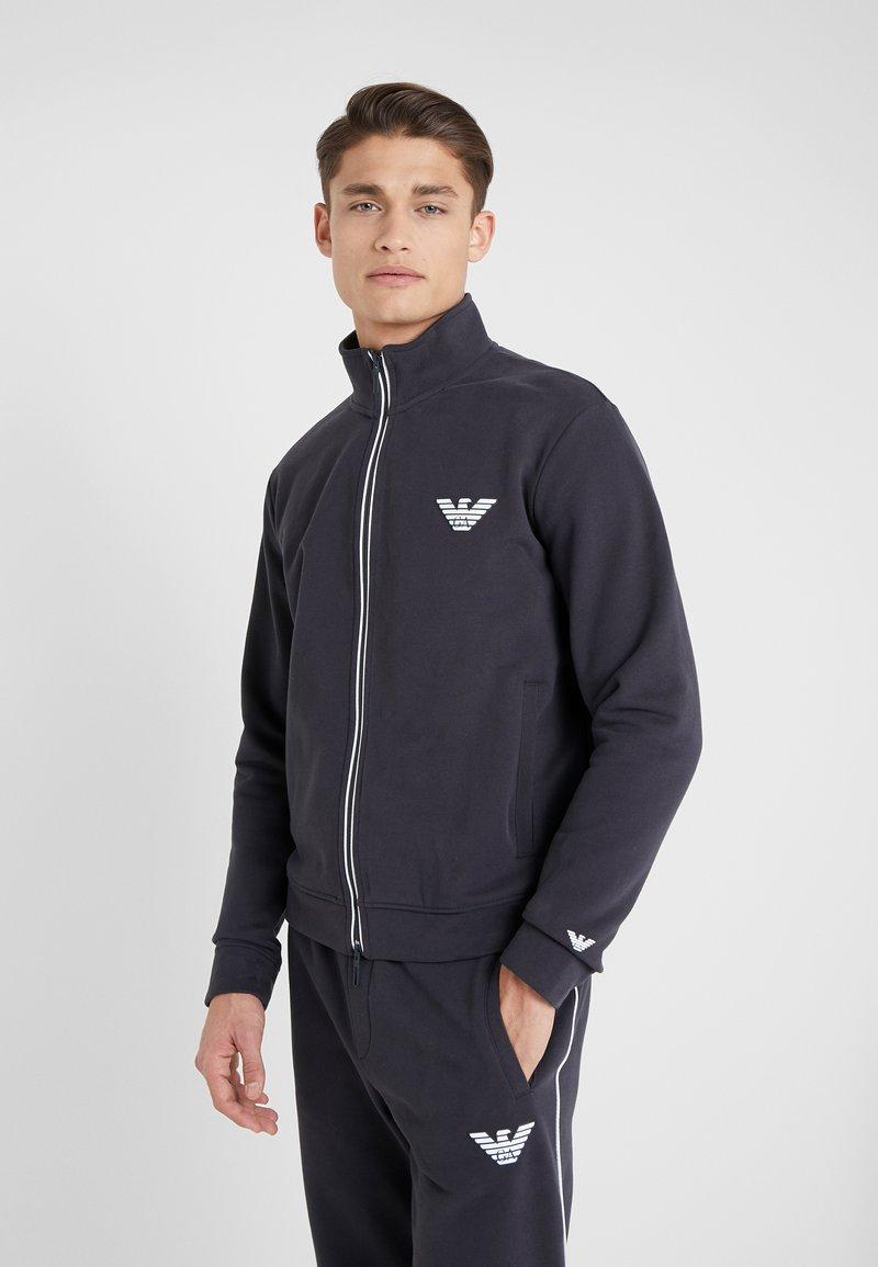 Emporio Armani - Zip-up hoodie - navy blue