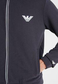 Emporio Armani - Zip-up hoodie - navy blue - 5