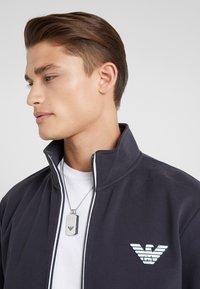 Emporio Armani - Zip-up hoodie - navy blue - 3