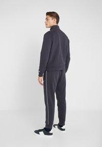 Emporio Armani - Zip-up hoodie - navy blue - 2