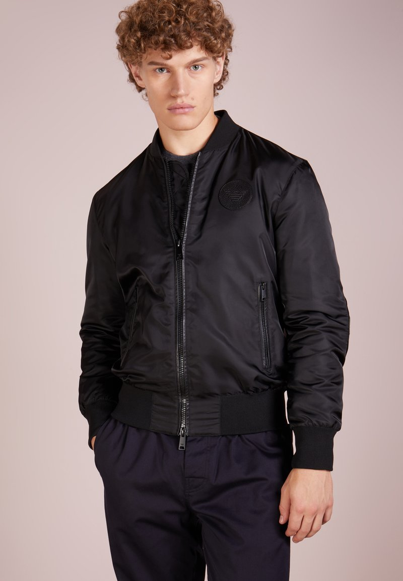 Emporio Armani - CABAN - Leather jacket - nero