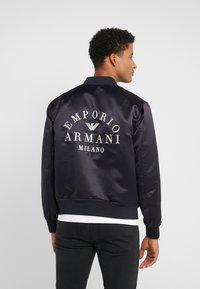 Emporio Armani - BLOUSON - Bomber bunda - blue - 2