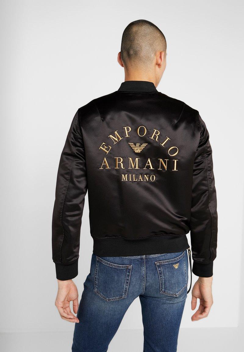 Emporio Armani - BLOUSON - Bomberjacka - nero