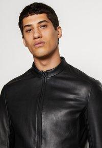 Emporio Armani - CABAN - Leather jacket - black - 2