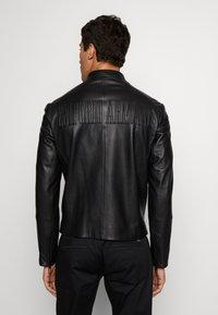 Emporio Armani - CABAN - Leather jacket - black - 3
